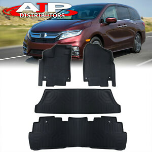 All Season Protect Floor Mats Liners Front Rear For 2018 2020 Honda Odyssey Rl6