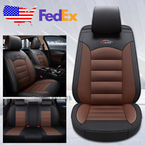 Us Design Car Suv Pu Leather Seat Cover Set Cushion Kit For Vw Golf Jetta Passat