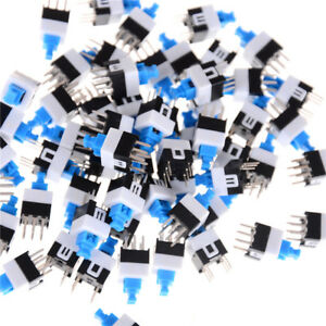 50pcs 6 pin Square 7mmx7mm Momentary Dpdt Mini Push Button Switch gn