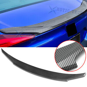 For Honda Civic 2016 2020 4dr Jdm Style Carbon Fiber Rear Trunk Lip Wing Spoiler