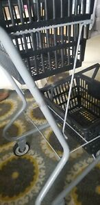 Shopping Cart Holds 2 Baskets Included