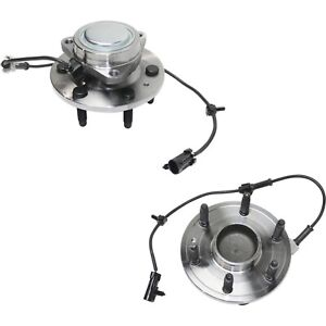 Set Of 2 New Complete Front Wheel Hub Bearing Assembly Chevy Gmc 2wd 6 Lug