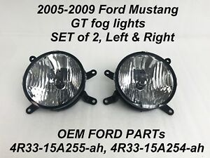Clear Oem Front Driving Fog Light Lamp Pair For 2 4r33 15a255 Ah 4r33 15a254 Ah