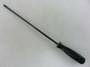 Snap on Ssd1410 Long Cabinet Flat Slotted Blade Screwdriver Black Hard Handle