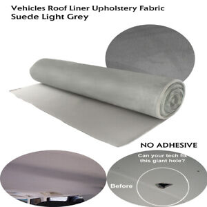 Suede Headliner Fabric Foam Backed Material Replace Sagging Upholstery 132 X60
