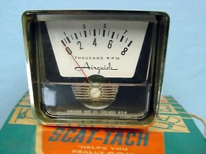 Nos Vintage Airguide Scat Tach 8 000 Rpm Tachometer Tach In The Box 8 Cylinder