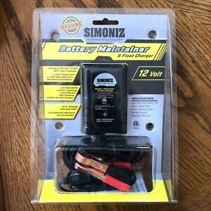 Simoniz 01086 Battery Maintainer Float Charger 12v Charging Cable Clamps New