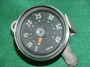 Vintage Stewart Warner Tach Tachometer Mechanical Drive Rat Rod Hot Harvester