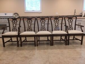 Drexel Mahogany Dining Chairs Devoncourt Finish Set Of 5