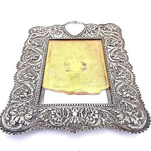 Antique Victorian Tiffany Co Sterling Silver Picture Frame