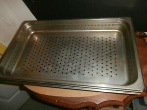 4 Update Choice Stainless Perforated Steam Table Pans 13 X 21 2 1 2 4 Deep