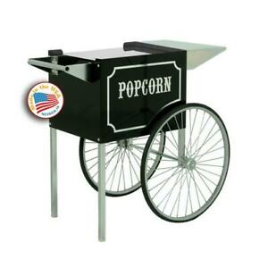 Paragon 3070820 Cart For 1911 6 8 Oz Popcorn Popper Black Chrome