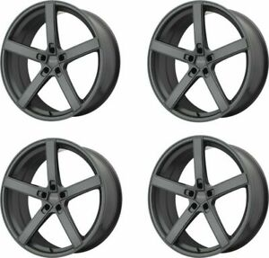 Set 4 19x10 American Racing Ar920 Blockhead Charcoal 5x4 5 Wheels 45mm W Lugs