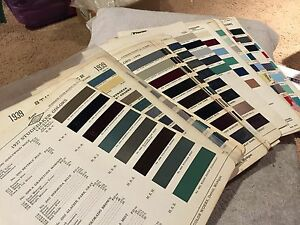 Studebaker Rare Vintage Parts Paint Chips Charts 1937 1964 Complete Set Look