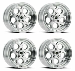 Set 4 15x8 Vision 561 Sport Mag Polished Rims 5x4 5 0mm For Ford Mustang W Lugs