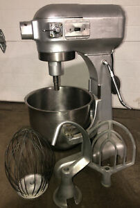 Genuine Hobart A 200 20 Qt Commercial Mixer W Whisk paddle Hook Ss Bowl