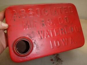 Orignal Embossed Name Associated Gas Tank Hit And Miss Old Gas Engine