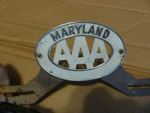 Maryland Triple A Aaa License Plate Topper 1933 1939 Ford Dodge Chevy 1936