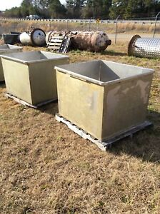 Approx 160 Gallons Open Top Stainless Steel Rectangular Tank