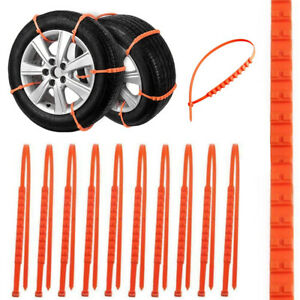 Universal Anti Skid Tire Snow Mud Chains For Car Suv Traction Emergency Driving