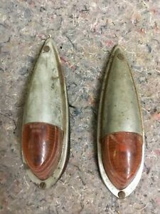Pair Of Vintage Grote 204 Marker Lights Tuning Signals