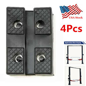 4pcs Heavy Duty Rubber Car Lift Post Pad Sub Frame Pinch Weld Point Accessories