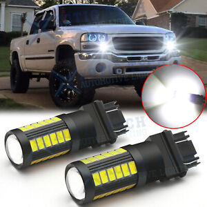 3157 White Led Daytime Running Light Drl Bulbs For Gmc Sierra 1500 2500 Hd 99 06