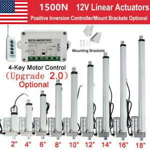 1500n Linear Actuator Heavy Duty 12v 2 18 High speed Motor And Durable Stroke