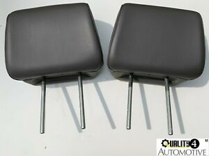 2007 14 Ford Expedition Oem Front Seat Headrests 2 Head Rests Gray Leather Oem
