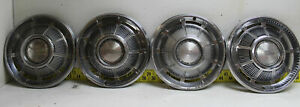 Used Oem 15 Hubcaps Set Of 4 1968 1969 Chevrolet Impala Caprice 2760
