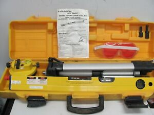 Johnson 9105 Hot Shot Sound And Light Laser Level Kit In Case W Tripod And Base