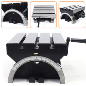 12 Adjustable Swivel Angle Plate With Heavy Work Tilting Milling Worktable