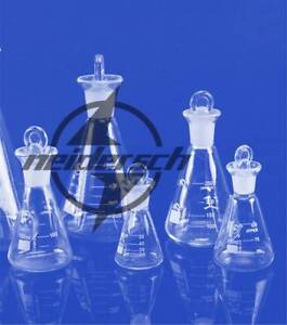 Flask Conical Bottle Lab Chemistry Glassware 0 100 150 250ml Glass Erlenmeyer