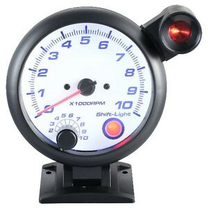 95 Mm 3 3 4 Inches Tachometer Gauge 0 10000 Rpm With Outside Shift Light