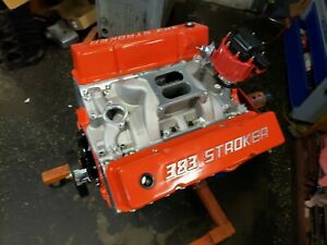 Chevy 383 410hp Chevy Crate Engine Aluminum Heads 2 Year Warranty Roller Rockers