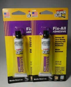 The Original Super Glue Fix all Water Resistant Adhesive Made In Usa Lot Of 2