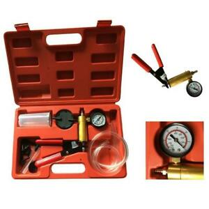 2 In 1 Brake Fluid Bleeder Hand Held Vacuum Pistol Pump Tester Kits