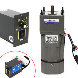 Ac 110v 90w Gear Motor Electric Motor Variable Reducer Speed Controller 1 100 Us