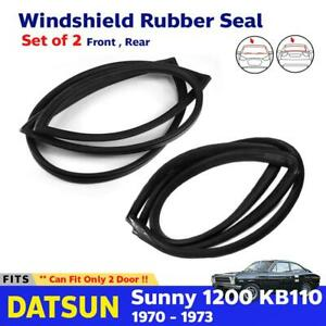 Front Rear Windshield Rubber Seal Weatherstrip Fits Datsun Sunny Kb110 Coupe 2d