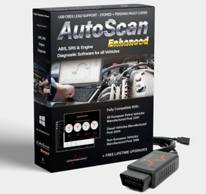 Autoscan Enhanced Obd2 Engine Diagnostic Software 4 All Vehicles Usb Elm327