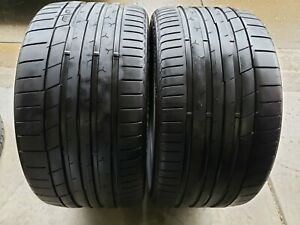 Two 295 30 20 Continental Extreme Contact Sport 35r R20 Tires 295 30 20