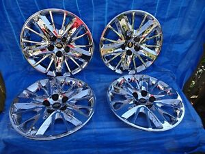 2014 2019 Chevy Impala 18 Chrome Wheel Covers Hubcaps 3299 Set Of 4