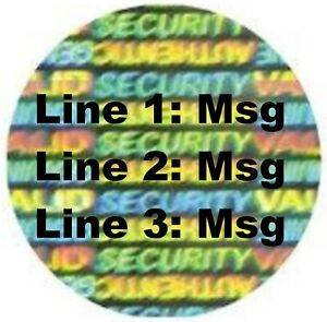Sv25c 100 To 1000 Svag 1 Round Custom Product Protection Hologram Stickers