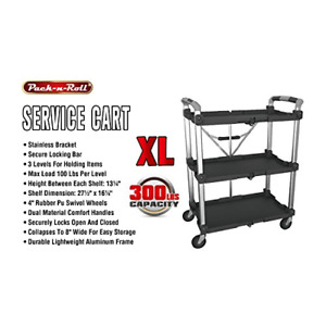 Olympia Tools 85 189 Pack N Roll Collapsible Service Cart Xl 300lb Capacity