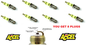 Accel Spark Plugs Chevrolet 283 307 327 350 Chrysler Dodge Plymouth 383 440