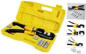 10 Tons Hydraulic Wire Battery Cable Lug Terminal Crimper Crimping Tool With