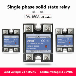 10a 150a Mgr 1 Single phase Solid State Relay Ssr Dc ac 4 480vac 3 32vdc