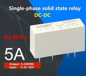 1pcs Gj 5fa l Single phase Solid State Relay 5a Dc dc Load 5 220vdc in 3 32vdc