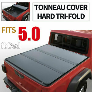 Hard Tri fold Tonneau Cover For 2016 2021 Toyota Tacoma 5 Ft Truck Bed
