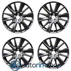 New 19 Replacement Wheels Rims For Toyota Highlander 2017 2020 Set Black